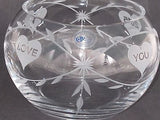 Hand cut lead crystal bowl,  Can be customized ,glass, hearts - O'Rourke crystal awards & gifts abp cut glass