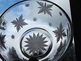 Hand cut glass bowl, frosted snowflake Can be customized - O'Rourke crystal awards & gifts abp cut glass