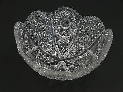 American Brilliant Period hand Cut Glass bowl / tub - O'Rourke crystal awards & gifts abp cut glass