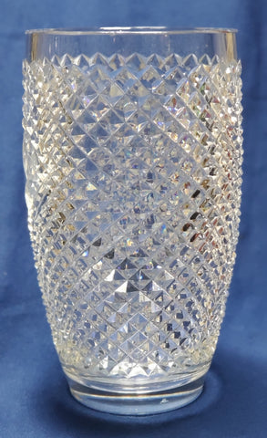Copy of Hand Cut 24% lead crystal vase with space for etching 5 lb Award