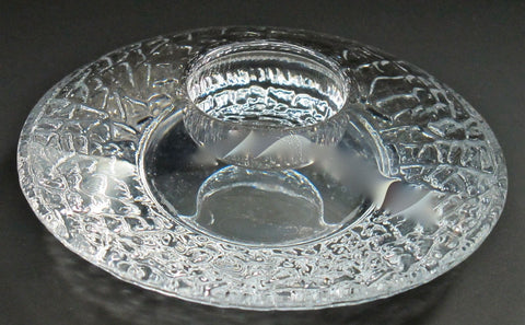 Signed orrefors  candle holder, CRYSTAL - O'Rourke crystal awards & gifts abp cut glass
