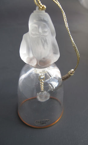 Lenox Crystal 1989 St. Nicholas Tree miniature bell ornament Made in USA - O'Rourke crystal awards & gifts abp cut glass
