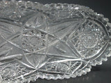Signed Egginton Marquise celery American Brilliant Period hand Cut Glass blown - O'Rourke crystal awards & gifts abp cut glass