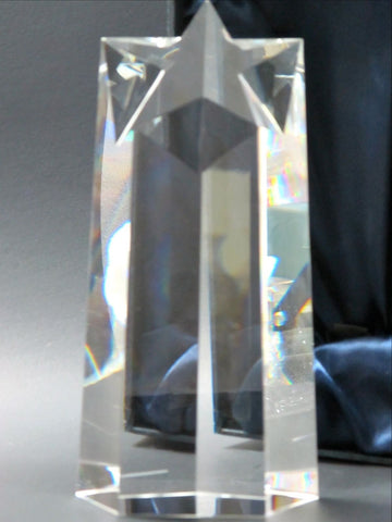 Optical GLASS , Gift crystal / Star award for etching - O'Rourke crystal awards & gifts abp cut glass