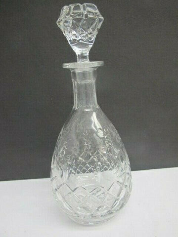 Rogaska signed Hand Cut glass decanter Queen 24% lead crystal - O'Rourke crystal awards & gifts abp cut glass
