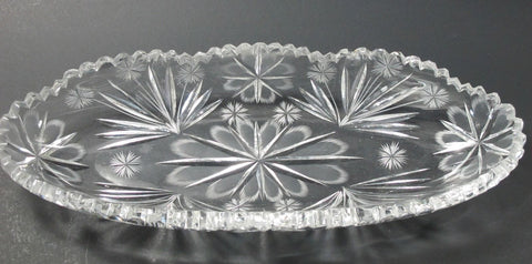 American Brilliant Period hand Cut Glass  celery - O'Rourke crystal awards & gifts abp cut glass