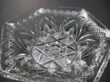 Signed Libbey American Brilliant Period Cut Glass 6 sided bowl  ABP  Antique - O'Rourke crystal awards & gifts abp cut glass