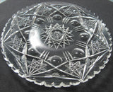 Plate American Brilliant Period Cut Glass  blown blank Antique - O'Rourke crystal awards & gifts abp cut glass
