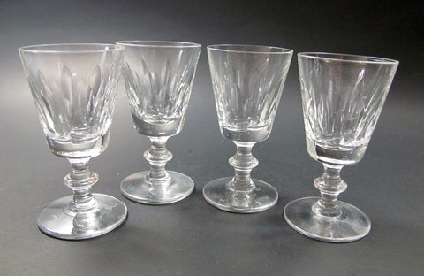 Liquor glass  Hand cut 4 piece old - O'Rourke crystal awards & gifts abp cut glass