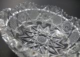 American Brilliant Period Cut Glass bowl  ABP  Antique  feathered - O'Rourke crystal awards & gifts abp cut glass