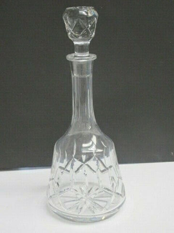 Hand Cut glass decanter 24% lead crystal - O'Rourke crystal awards & gifts abp cut glass