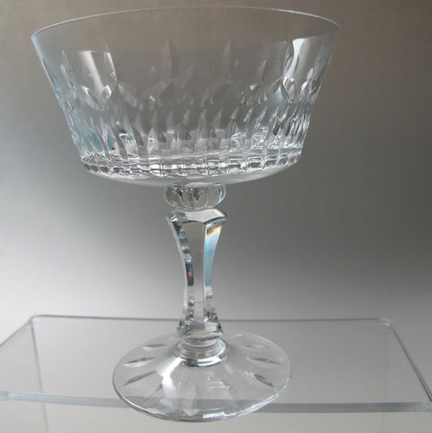 Lenox Cut glass Flourish Crystal dessert Made in USA Mt Pleasant PA mouth blown - O'Rourke crystal awards & gifts abp cut glass