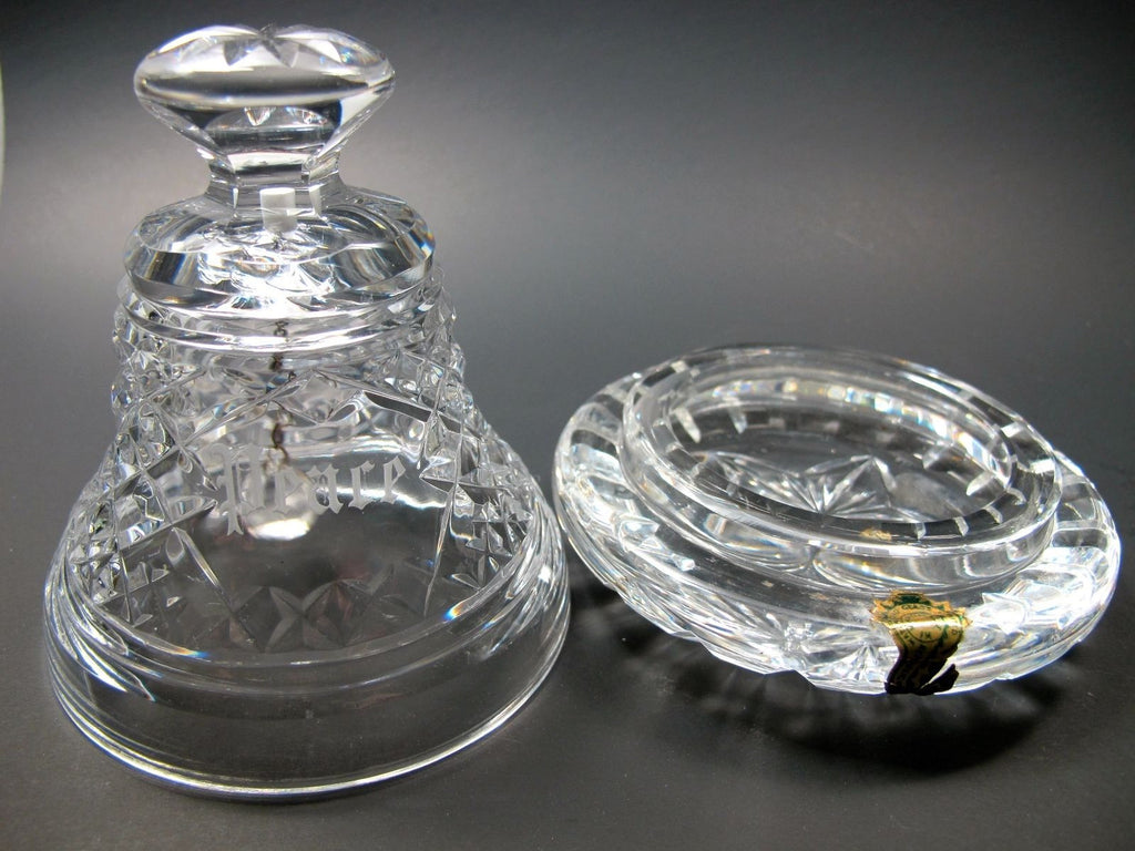 Signed Waterford Crystal Peace Bell With Under Dish O Rourke Crystal Awards Amp Gifts