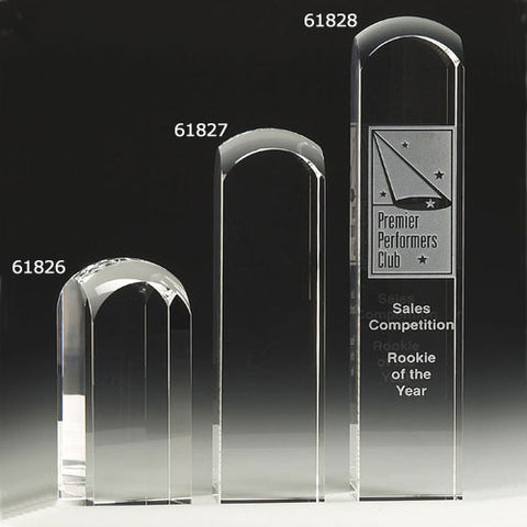 "Round 4.75"" Optical Glass Award - O'Rourke crystal awards & gifts abp cut glass"