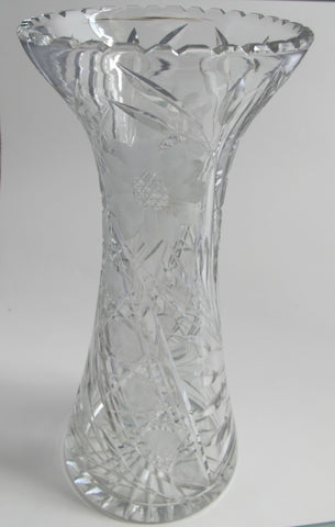CUT GLASS VASE - O'Rourke crystal awards & gifts abp cut glass