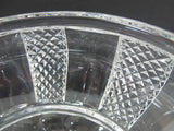 Hand Cut glass bowl HAND POLISHED crystal signed - O'Rourke crystal awards & gifts abp cut glass