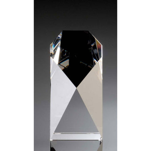 Commemorative Optical Glass Tower Medium Award - O'Rourke crystal awards & gifts abp cut glass