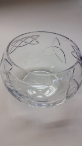 Hand cut lead crystal bowl, Celtic knot Can be customized ,glass, Shamrocks - O'Rourke crystal awards & gifts abp cut glass