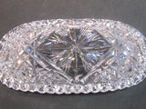 ABP Crystal Cut Glass signed Libbey oval dish