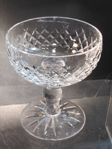 Alana Signed Waterford CUT GLASS dessert crystal Ireland