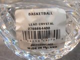 Signed Waterford crystal Basket Ball paperweight