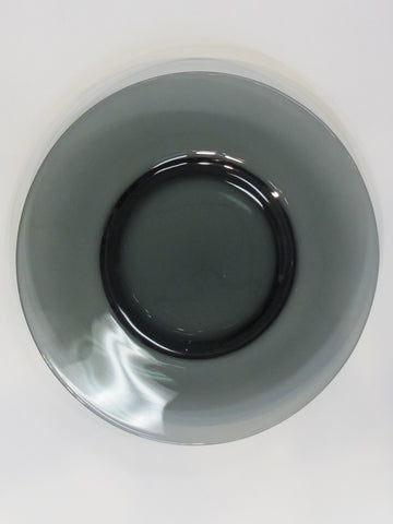 "Bryce glass charcoal plate 8.5"" Made in USA"
