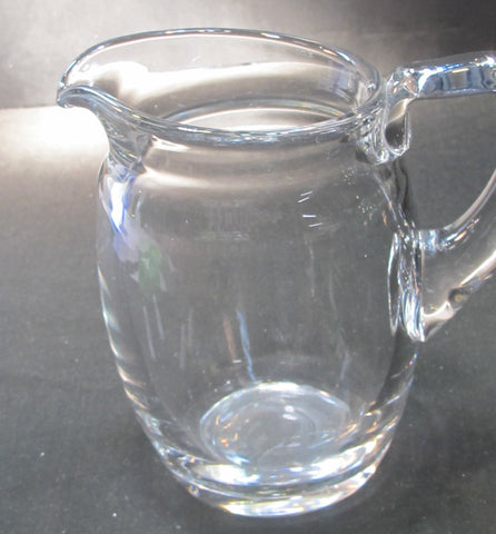 Crystal pitcher Ground and polished base