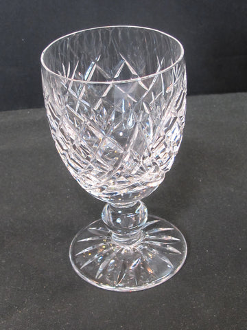 Signed Waterford CUT GLASS Donegal claret crystal Ireland