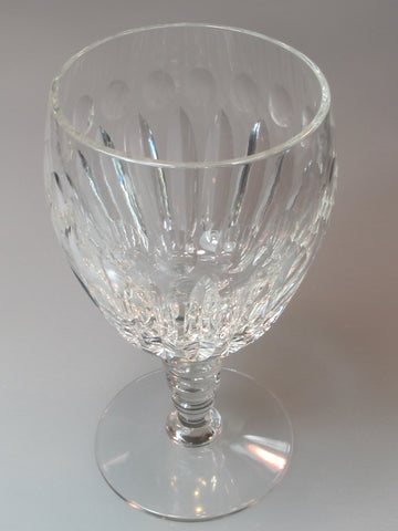 Cut Glass water goblet Antique Signed Hawkes