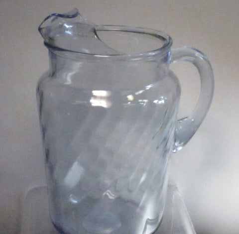 Indiana blue serene Glass pitcher