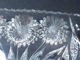 ABP cut glass dish Pairpoint daisey ANTIQUE