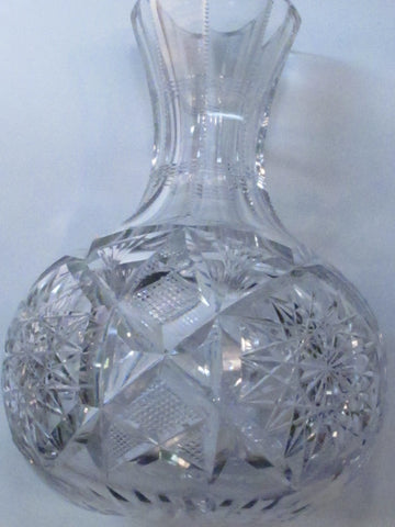Libbey signed ABP Carafe American Brilliant Period hand Cut Glass