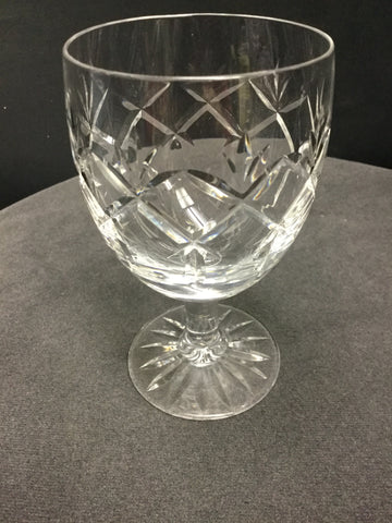 Webb Corbett Prince Charles Hand cut glass wine glass England - O'Rourke crystal awards & gifts abp cut glass