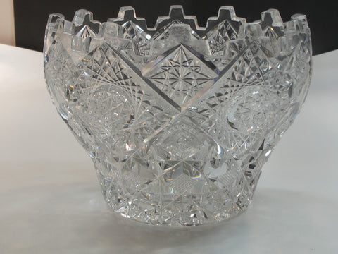 ABP cut glass ice tub Antique crystal Clark Prima Donna