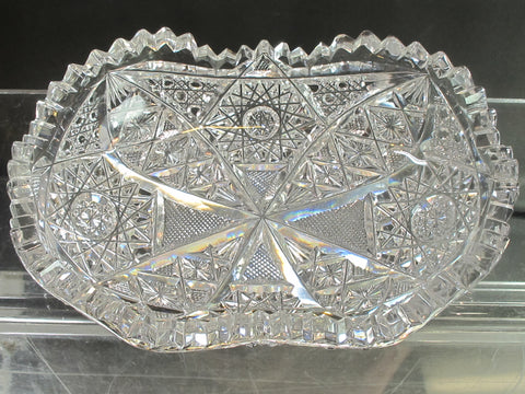 *ABP Crystal Cut Glass Oval dish