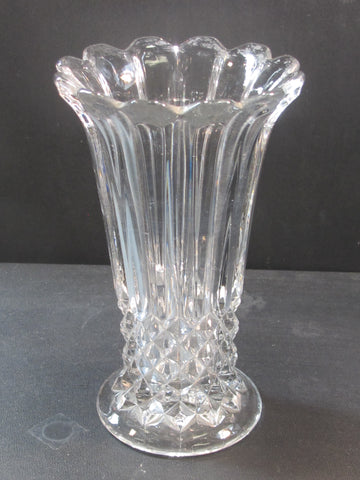 Pressed glass vase auction