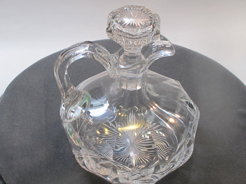 Signed Hawkes ABP decanter American Brilliant Period hand Cut Glass