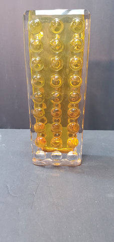 Signed Baccarat  Amber glass vase