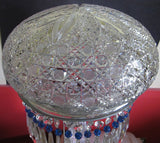 "Cut Glass 22"" crystal lamp 2 part Antique ABP - O'Rourke crystal awards & gifts abp cut glass"
