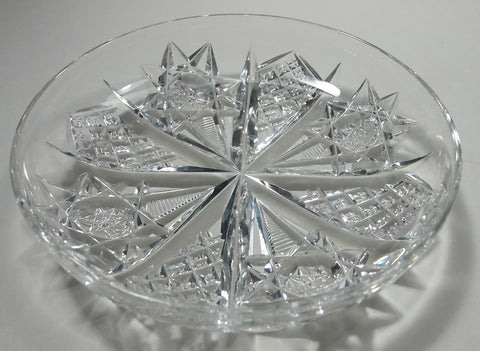 Signed Hawkes Antique Cut Glass dish American Brilliant period, ABP