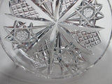 Signed Hawkes Antique Cut Glass dish American Brilliant period, ABP - O'Rourke crystal awards & gifts abp cut glass