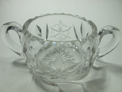 Canastota Hand Cut glass sugar poinsettia - O'Rourke crystal awards & gifts abp cut glass
