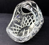 Crystal Large Hand Cut Flower Basket - O'Rourke crystal awards & gifts abp cut glass