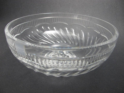 Hand Cut glass bowl hockey crystal signed - O'Rourke crystal awards & gifts abp cut glass