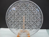 Hand Cut glass plate crystal signed - O'Rourke crystal awards & gifts abp cut glass