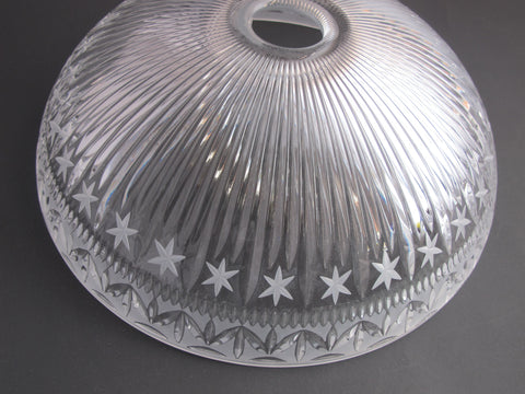 Glass lamp shade 24% lead crystal , Made in USA , - O'Rourke crystal awards & gifts abp cut glass