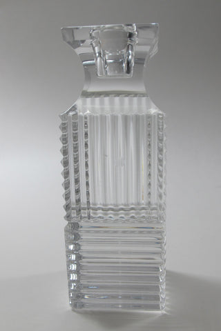 "Signed Val st lambert candle holder CRYSTAL 5.375"" - O'Rourke crystal awards & gifts abp cut glass"