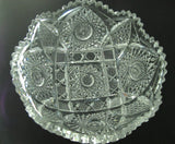 "American Brilliant Period Cut Glass  ABP  Antique 8"" bowl Made in USA - O'Rourke crystal awards & gifts abp cut glass"