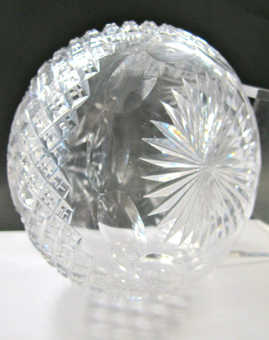 ABP cut glass carafe strawberry diamond fan American brilliant - O'Rourke crystal awards & gifts abp cut glass