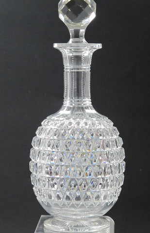 American Brilliant Period Cut Glass decanter,  Antique  ABP - O'Rourke crystal awards & gifts abp cut glass